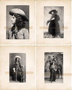 Vintage & Antique (Pre-1940) 1920 Cowgirls in Chaps Vintage/ Old Photo 13 x 19  Reprint Collectibles