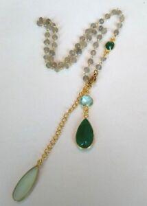 Design-Collier-Labradorit-Blautopaz-Onyx-925-Silber-vergoldet