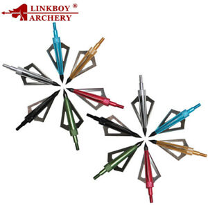 6PCS-100-125-Grain-3-Blades-Broadheads-Arrow-Points-Tips-Arrowheads-Bow-Hunting