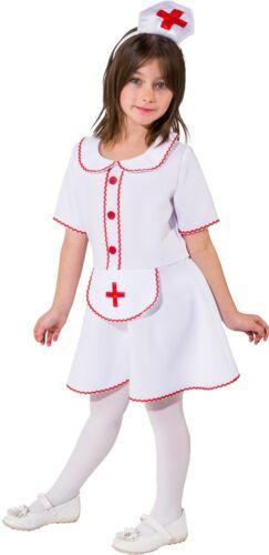 Girls Little Helper Nurse Job Occupation Uniform Fancy Dress Costume Outfit