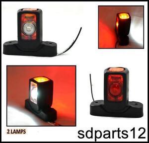 2x 24v led rouge blanc orange feux de gabarit camion. Black Bedroom Furniture Sets. Home Design Ideas