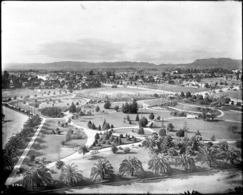 Sky View of Lafayette Park Photo California 1912-3 Los Angeles