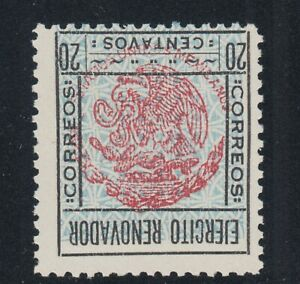 Mexico, Sinaloa, Sc 2 var. MNH. 1929 20c Coat of Arms with INVERTED CENTER, rare