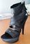 Casadei-Originali-heel-sandals-ladies-size-38-black-fabric-neri-tessuto-sandali
