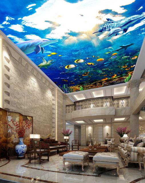 3D Undersea World Sun 789 Wallpaper Mural Wall Print Wall Wallpaper Murals US