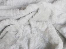 Plüsch grau ca 140 cm breit Meterware Plüschstoff Fellimitat