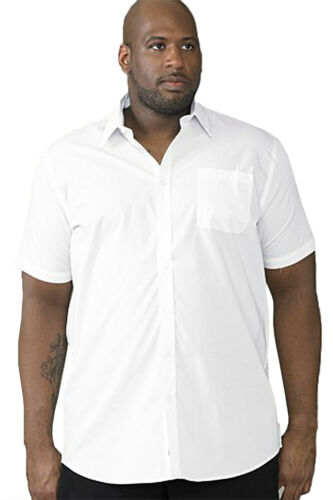 Duke D555 Mens King Size Big Tall Easy Iron Short Sleeve Collared Casual Shirts