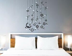 Wandtattoo Schlafzimmer Wandtatoo Kinderzimmer Mond Sterne