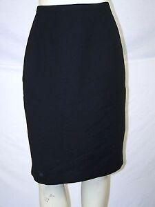 Villager-Petite-Black-Lined-Career-Straight-Skirt-Womens-Size-10-Medium-Petite