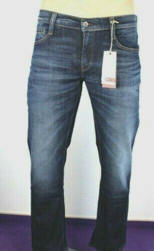 MUSTANG Herren Oregon Straight Jeans Used Look blau W33 L30 W30 L32 L34 NEU R133