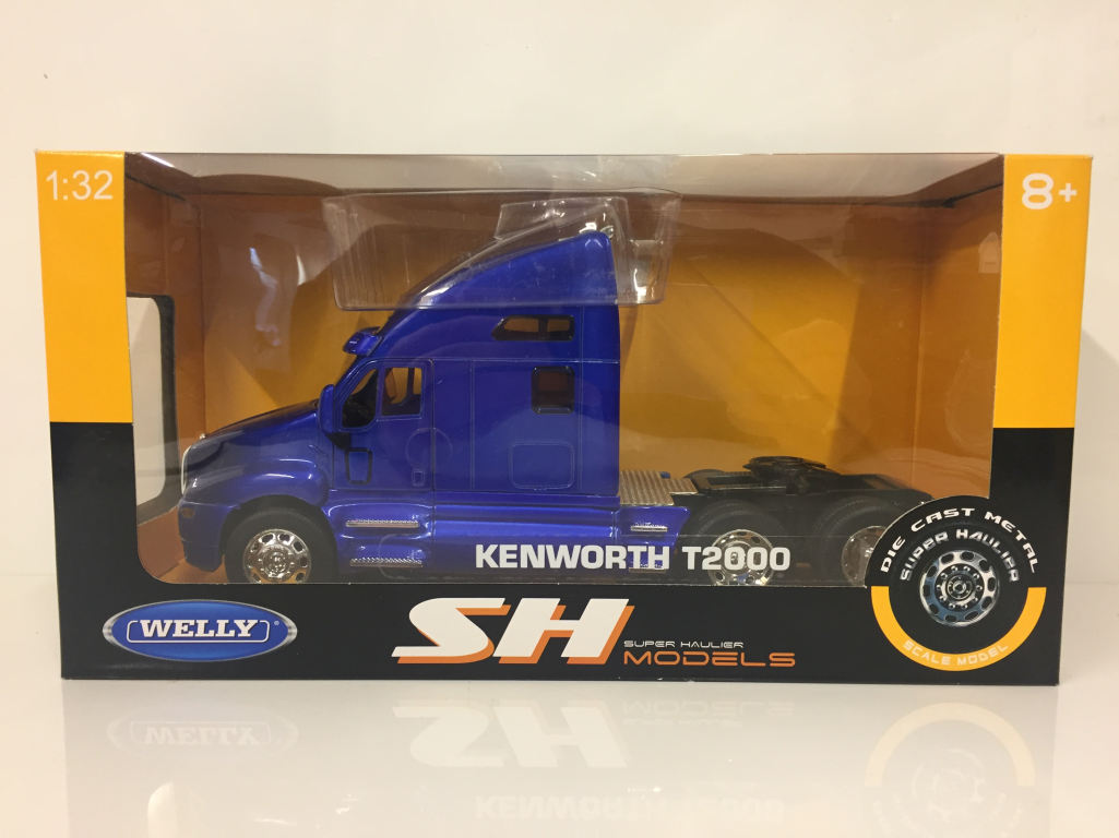 Kenworth T2000 TAXI TAXI TAXI Unidad - Azul Súper Transportista Welly 32210b 1  3 2 Escala bb74d4