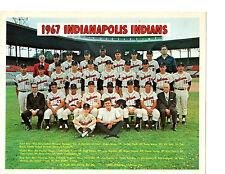 1967 INDIANAPOLIS INDIANS 8X10 TEAM PHOTO  PCL NASH  BASEBALL INDIANA USA