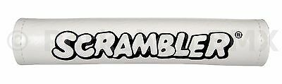 Schwinn Scrambler VINYL SNAP old school BMX Bicycle Handlebar Bar Pad WHITE