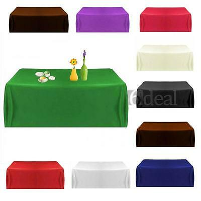 57''Satin Tablecloth Table Cover for Wedding Party Restaurant Banquet 145cm