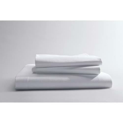 Best Western ComforTwill Solid Flat Sheet,Queen, 90x120 , White, Case Of 24