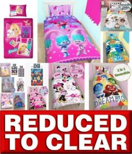 REDUCED-Disney-Character-Girls-Kids-Bedding-Single-Double-Duvet-Cover-Bed-Set