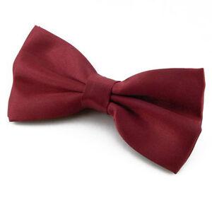 Noeud-papillon-Homme-Rouge-Bordeaux-Mariage-Ceremonie-Fete-Soiree-Cadeau-Noel