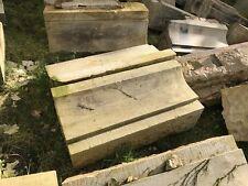 1x große 140 kg Elb - Sandstein Traufe Gesims Traufgesims 100 cm lang