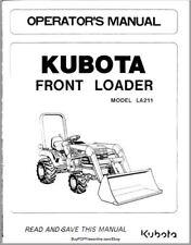 kubota la181 la211 loader manual ebay rh ebay com kubota la211 owners manual Kubota LA211 Loader Sale