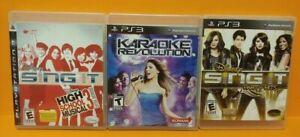 Disney-Sing-It-Party-HSM-School-Musical-3-Karaoke-Sony-PlayStation-3-PS3-Lot