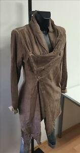 Made-in-Italy-Long-Sweat-Jacke-Mantel-Blazer-Gr-S-M-L-rosa-washed-Vintage