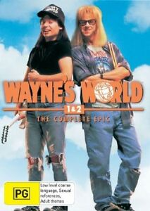 WAYNE-039-S-WORLD-1-amp-2-THE-COMPLETE-EPIC-2-DVD-SET-AS-NEW-PAL-REGION-4