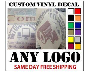 CUSTOM VINYL DECALS STICKER ANY LOGO OR IMAGE FAST FREE - Custom vinyl stickers ebay