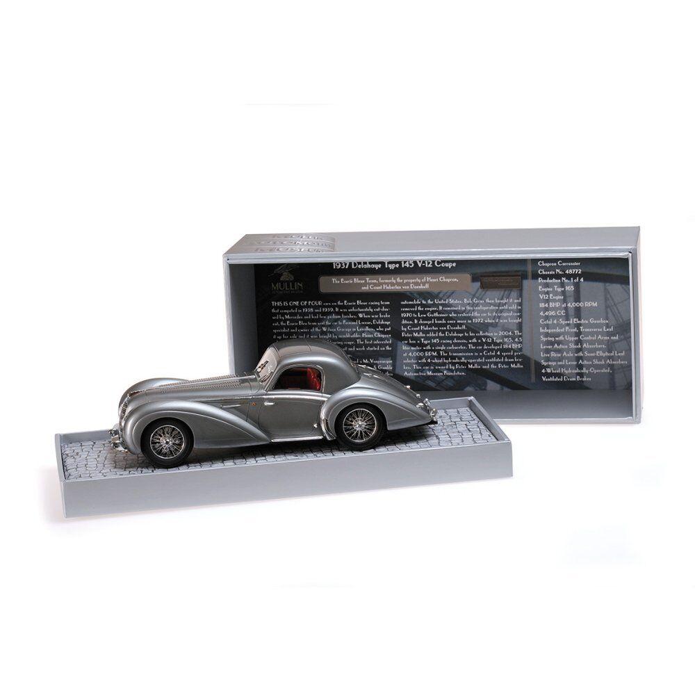 1937 DELAHAYE TYPE 145 V-12 COUPE grigio 1 18 LTD TO 1002PC MINICHAMPS 107116120