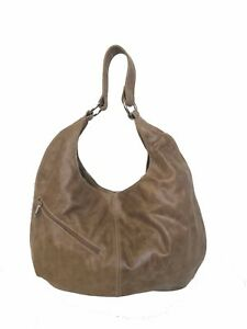 Image Is Loading Distressed Leather Hobo Purse Large Slouchy Shoulder Bag