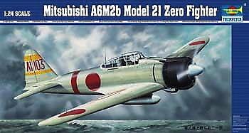 Neu Trumpeter 02405-1:24 Mitsubishi A6M2b Zero Typ 21