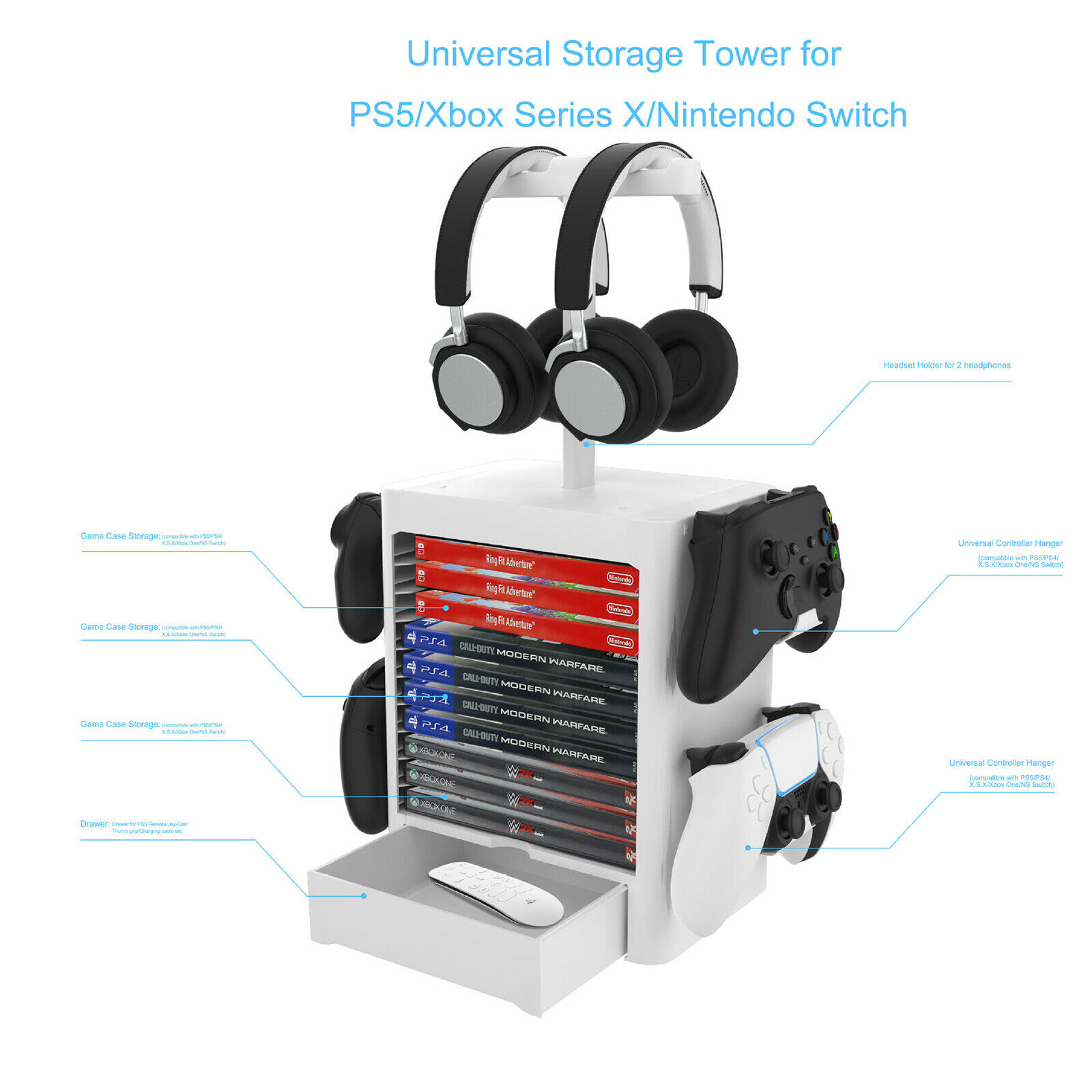 Storage Bracket Game CD Disc Holder Rack for PS5 XBOX Series X Game Accessories
