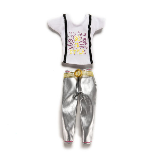 1PCS Blouse Outfit Casual Wear Clothes Trousers for  Doll FD