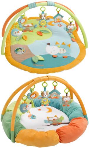 Fehn 3D-Activity-Decke Nest Krabbeldecke Sleeping Forest Eule Igel Fuchs