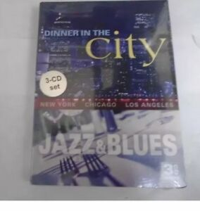 NEW-Dinner-in-the-City-Jazz-amp-Blues-Various-Artists-33-Tracks-3-CD-Set