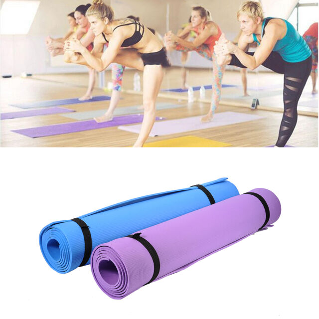 180cm*60cm Yoga Mat Workout Exercise Gym Fitness Pilates Non-Slip Meditation ST