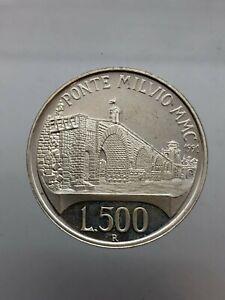 500-Livres-Bridge-Milvio-1991-Proof-Republic-Italian