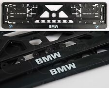 2x BMW LOGO EXCLUSIVE EUROPEAN LICENSE NUMBER PLATE SURROUNDS HOLDERS EURO SIZE