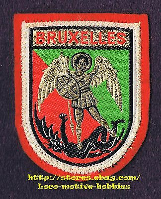 LMH PATCH Badge  BRUXELLES  Brussels  BELGIUM  Coat Arms ARCHANGLE Slaying Devil
