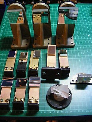 13 X Mounted Optical Mirrors / Scientific Mirrors - Adjustable - Diffraction