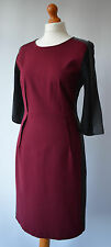 Ladies Paul Smith Burgundy & Black Dress Size 44 Uk 12