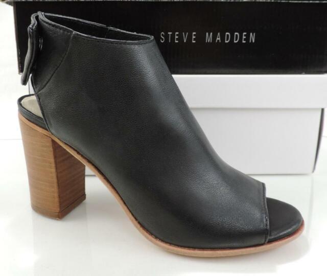 pereza carolino proteína  Steven By Steve Madden Slater Open Toe Heels Sandals Booties Black Size 5.5  for sale online