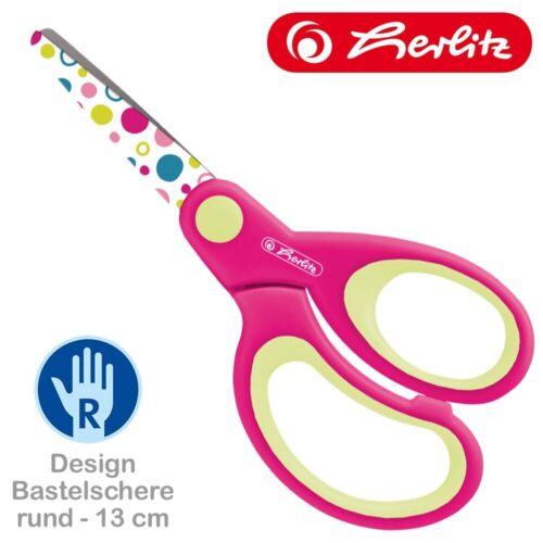 Herlitz Schere Design Schulschere Bastelschere Rechts-//Linkshänder spitz rund