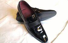 $245 New Hugo Boss Black Patent Leather Tuxedo Dress Shoes size 8