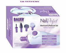 NAIL PERFECT MANICURE AND PEDICURE SET BATTERY OPERATED WOMEN PROFESSIONAL NEW