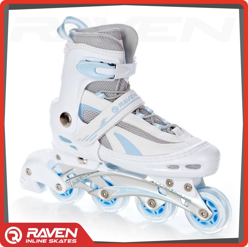 Raven Roller Skates Weiß Adjustable Inline Skates GOLD lila Adjustable Weiß skates 3022ac