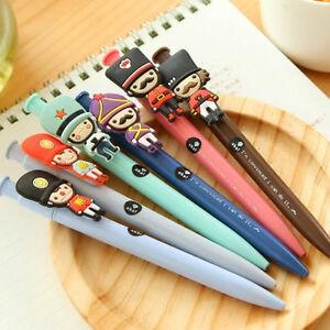 5Pcs-Cute-Cartoon-soldier-Roller-ball-Pen-funny-School-Stationery-Office-Supply