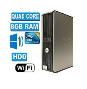 Rapido-Dell-Quad-Core-PC-Torre-escritorio-Windows-10-Wifi-8GB-Ram-500GB-HDD