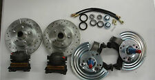 Mopar A B E body Cuda Charger front disc brake conversion drilled slotted rotors