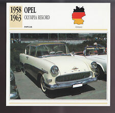 1960-1963 Ferrari 250 GTE//250 GT 2+2 Car Photo Spec Sheet Info CARD 1961 1962
