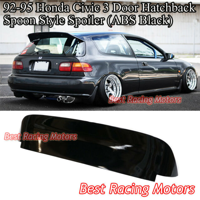 SPN Style Roof Spoiler Wing (ABS Gloss Black) Fits 92-95 Honda Civic 3dr